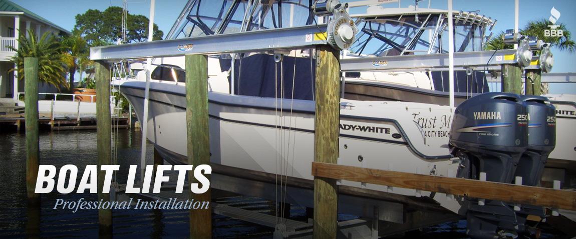 slide-boat-lift-installation